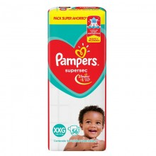 PAMPERS ROJO SUPERSEC XXG 56