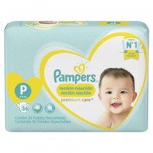 PAMPERS P-CARE PEQ 36